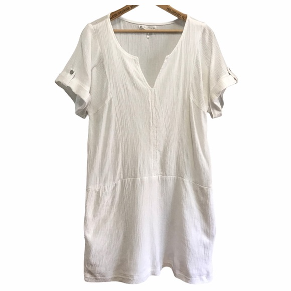 House of Harlow 1960 off white crinkled dress